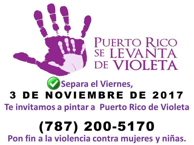 Anuncio para portada de Facebook - Día Violeta 2017